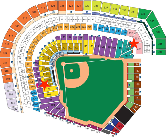 Map of AT&T Park